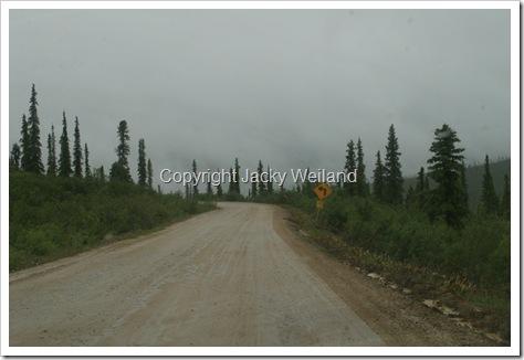 Route de Chicken vers la frontière canadienne