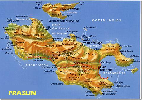 Carte de Praslin