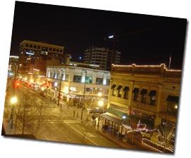 Le centre de Boise la nuit