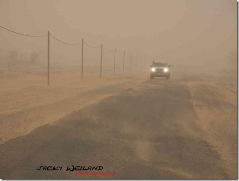 Tempête de sable - route de Zagora à Mhamid - Vallée du Dra
