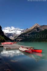 Lumières matinales sur le lac Louise - Banf Canada