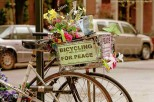 Bicyclette de la paix - Greenwich Village - New York City